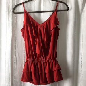 NWT red Rory Beca layered top